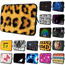 Notebook Soft Bag 12 15 17 13 10 14 7 15.6 Inch New Sleeve Laptop Cover Cases For Toshiba Sony Tablet PC Fashion Leopard Design
