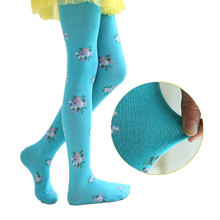V-TREE 2017 baby clothing tights children tights for girls cotton child pantyhose flower kids pantyhose warm stockings(China)