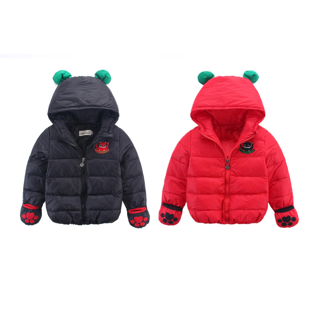2Color Winter Baby Girls Cotton Duck Down Jackets Solid Leopard Parkas Hooded Kids Toddler Infant Snow Wear Outerwear Coat 1T-5TОдежда и ак�е��уары<br><br><br>Aliexpress