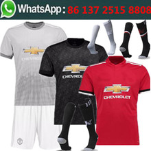 Free shipping 169 camisetas de futbol manchesteer kit socks uniteds men Soccer jersey best quality 2017 2018 football jersey(China)