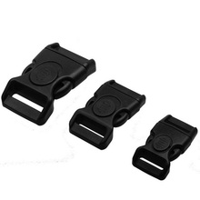 10pcs 15mm 20mm 25mm Plastic Black Curved Buckle w/Lock for Paracord Bracelet Side Release Buckles Bag & Case Accessory