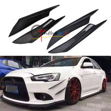 Carbon Fiber Front Bumper Canards Splitters for 08-17 Mitsubishi Lancer EVO X 10