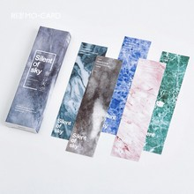 Silcent of Sky Paper Bookmark Card DIY Book Marks Message Cards Cute Stationery Office and School Supply 150*40mm
