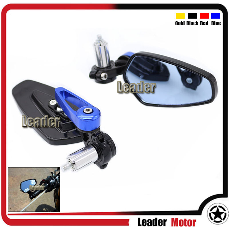 Universal Motorcycle 7/8 22mm Rearview Mirror Handle Bar End Blue Side Mirror For Aprilia Dorsoduro 1200 750 RSV 1000R Blue<br><br>Aliexpress