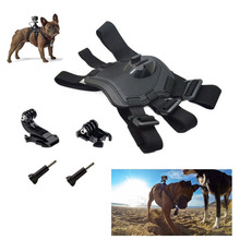 Dog Harness Chest Strap Belt +J Hook + Screw action camera Gopro accessories kit for Xiaomi Yi 4k GoPro Hero 5 4 3+ 3 SJCAM(China)