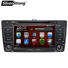 Free shipping 2din CAR DVD player for Sskoda Octavia A5 Radio with wifi CANBUS Bluetooth ATV wince 6.0 free map swc