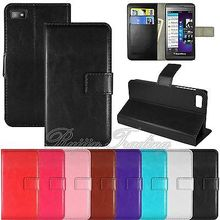 New Designed Brand Book Flip PU Leather Wallet Stand Cover Phone Cases For Blackberry Z10