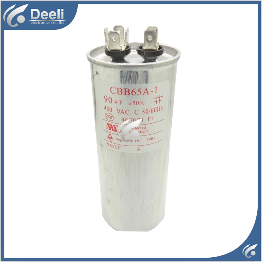 2pcs/lot new good working for Air conditioning capacitor CBB65 450VAC 90UF control board<br><br>Aliexpress