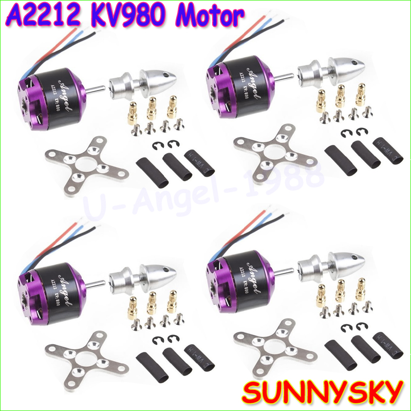 Wholesale 4pcs/lot SUNNYSKY Angel A2212 980KV KV980 Brushless RC Motor for DIY Multirotor Quardcopter Quad-X<br><br>Aliexpress