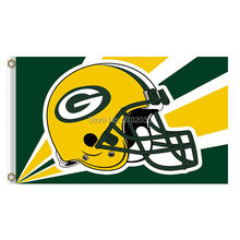 Helmet Design Green Bay Packers Flag Banners Sport Football Team Flags 3x5 ft Super Bowl Champions Banner Fans World Series(China)