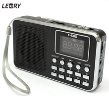 LEORY Universal Home Stereo FM Radio Speaker Mini Portable Radio TF Card Digital Speaker With LED Screen