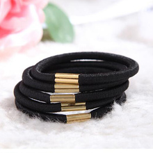 20pcs/set, Hot Sale Women's Headwear,Simple, Metal Buckle Connection, Black Rubber Band,High Quality Elastic Hair Bands Girls(China)