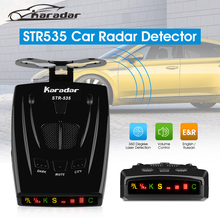 KARADAR STR535 Car Radar Detector Russia 16 Brand LED Display Laser Strelka Anti-ploice Radar Detector Russia& English Version(China)