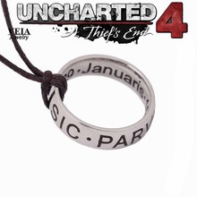 New Hot PS4 Game Uncharted 4: A Thief's End Drake Alloy Necklace Cosplay Accessories Collector's Edition Fashion Man's Jewelry(China)