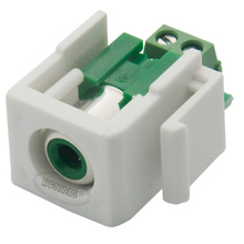 Keystone RCA Green Female Connector With Backside Screw Connection(China)