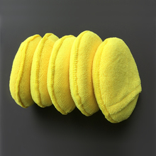 "5"" Round Car Care Microfiber Pocket Sponge,Auto Wax Applicator Pad,Car Detailing Polishing Pad"