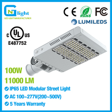 Outdoor Highway Lighting 100W LED Street light adjusted pole head parking lot fixture 100-277V 6000K daylight(China)