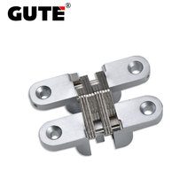 GUTE 201 Small Size Cross Concealed Hinge Bright Chrome Zinc Alloy Weight Bearing 30KGS Suitable for Door Thickness Below 32mm(China)