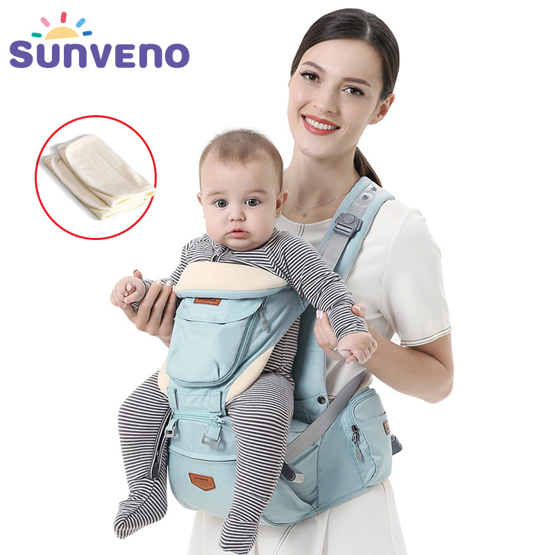 SUNVENO Ergonomic Baby Carrier Infant Baby Hipseat Waist Carrier Front Facing Ergonomic Kangaroo Sling for Baby Travel 0-36M title=