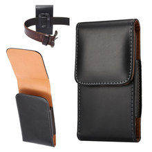 For Samsung Galaxy S4 S3 Phone Bag Mobile Cover Belt Clip Case Black Color PU Leather Pouch Wallet Cell Phone Cover(China)
