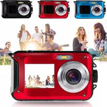 "Gizcam 24MP Full HD 1080P Digital Camera 2.7"" 1.8"" Dual LCD Screen Camcorder DV DVR Self-timer Selfie 16x Zoom CMOS Best Gift"