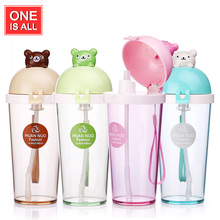 Cartoon Water Bottle Kid Bickiepegs Baby Cute Bear Animal Water Bottle Straw Bottles Children Kettle Sports Tumbler BPA Free