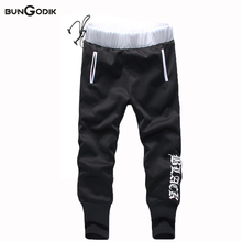 Bungodik New Famous Brand Men Clothing Hollistic Pants Masculinas Casual Sweatpants Male Sporting Pants Mens Bandage Joggers XXL