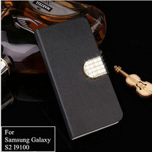 Fashion Retro Wood Grain Case For Samsung Galaxy S2 SII GT I9100 S2 Plus i9105 Flip Wallet Phone Case Protective Cover