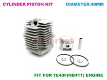Cylinder Piston kit for 41CC Brush Cutter.Grass Trimmer.Lawn Mower.Tiller.Gasoline Engine Garden Tools Spare Parts