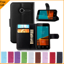 Luxury Flip Wallet PU Leather Cell Phone Case Cover For Vodafone Smart First 6 Case Shell Back Cover With Stand & Card Holder