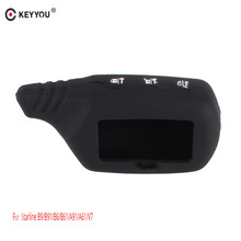 KEYYOU Key Cover B9/B6 Silicone Case For Original Starline B9/B91/B6/B61/A91/A61/V7 LCD Way Car Remote 2 Way Alarm