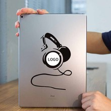 DJ Headset Earphone Laptop Sticker for Apple iPad Decal Air / 1 /2 / 3 / 4 / Mini Surface Book Tablet PC Skin Notebook Stickers(China)
