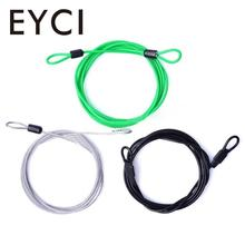 EYCI 2017 200CM x 2.5MM Cycling Sport Security Loop Cable Lock Coiling Bicycle Bike(China)
