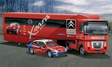 Out of print! ITALERI 1/24 3830 Citroen WRC 2004 Racing Team with Rally Car Model