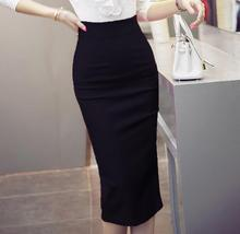 Skirts Women 2017 Autumn Winter High Waist Midi Lenght Tight Skirt Bodycon Pencil Skirts Elegant Womens Office plus size 4XL 5XL