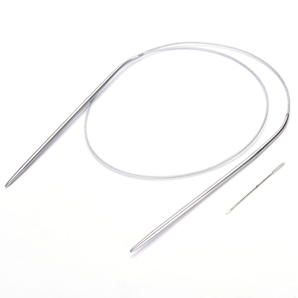 Durable Stainless Steel Circular Knitting Needles Crochet Knit Hooks Size 6-Size 15 84cm Wholesale