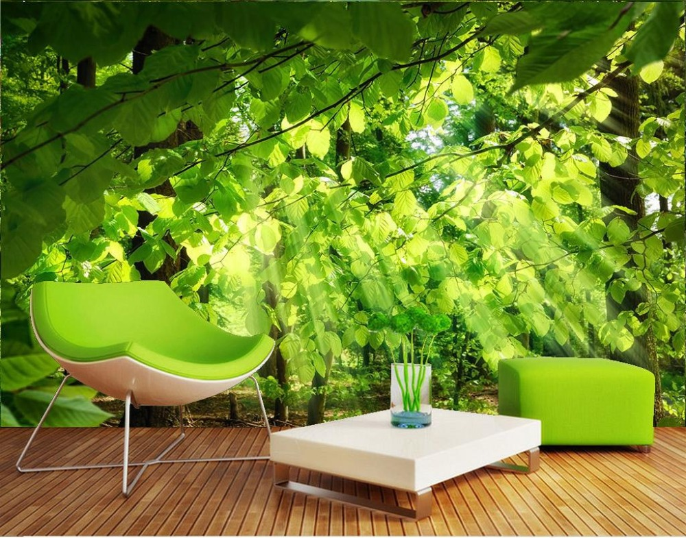 Custom wallpaper for walls 3 d photo Forest high-definition natural scenery 3d nature wallpapers for living room wall mural<br>