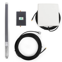 Verizon LTE 700MHz Phone Signal Booster Repeater Amplifier with Directional Panel Antenna and fiberglass exterior Gain antenna
