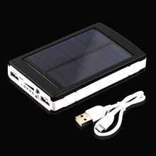 Intelligent Powerful 13000mAh Dual USB Output Solar Power Movable Charger Bank