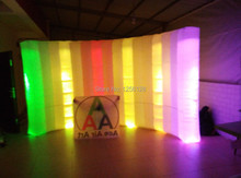 Popular Item Light Curve Inflatable LED Wall For Office, Trade show,Exhibition Decoration 3.6 m L*2.1 mH