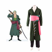 hot japan anime One Piece Roronoa Zoro Two Years After Cosplay Costume Components: Long coat, belt, girdle, pants