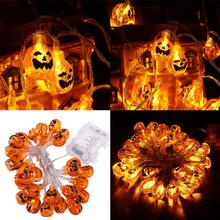 4M 30 LEDS Hallowen Pumpkin String Lights Battery-Powered Decoration Lights With Remote For Hallowen Party Decoration