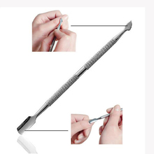 1 pcs Stainless Steel Cuticle Remover Double Sided Finger Dead Skin Push Nail Cuticle Pusher Manicure Nail Care Tool(China)