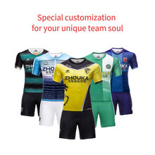 custom sublimation best thai quality football shirt professional design cool men soccer jerseys(China)