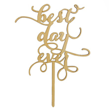 Best Day Ever Wood Cake Topper Party Cake Decorating Wedding Favors