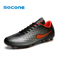 SOCONE 2017 New Youth Football Shoes Outdoor Training Turf Shoes For Men Profession Boys Home Sport Soccer Shoes Sneakers(China)
