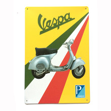Vintage metal painting retro metal tin sign motorcycle vespa art posters wall stickers home decor cafe bar pub wall decoration