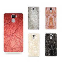 Marble pattern Transparent Case For HUAWEI P9 lite honor7 plus Phone Case  soft slim silicone Tpu Phone Cover with dust plug