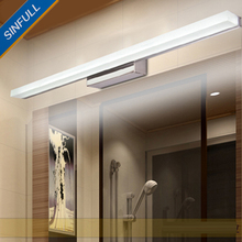 Modern bathroom stainless steel mirror light Acrylic dressing room led wall lamp waterproof makeup sconce home hotel lighting