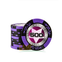 Poker Chips 14g Clay Casino Coins Texas Hold'em Clay Poker Chips Baccarat Upscale Set Pokerstars Fichas de poker card protector(China)
